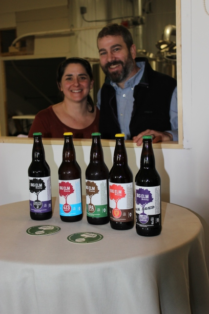Christine and Bill Heaton of Big Elm Brewing of Sheffield, Mass.
