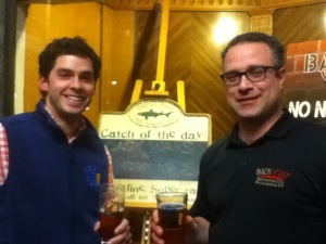 Conor Horrigan of Half Full Brewing and Tony Karlowicz of Back East Brewing