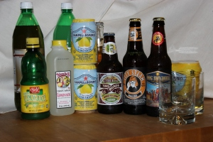 Raw ingredients for the perfect shandy