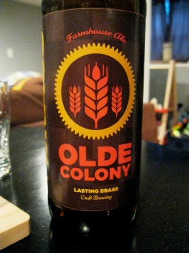Lasting Brass's Olde Colony saison