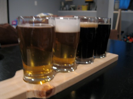 Two blondes and two porters
