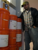 Ed and his grain buckets