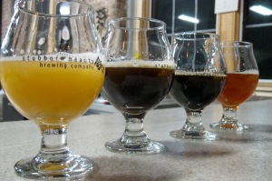 From left, How Rye I Am saison, Kommandant Lassard dunkelweizen, Don't Call Me Porter Justice, and Nummy Nummy IIPA