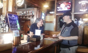 Pies & Pints owner Theo Anastasiadis, left, and head brewer John Watson at the new Pies & Pints in Waterbury.
