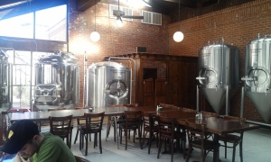 The brewing system at Pies & Pints in Waterbury, which is yet to be set up.