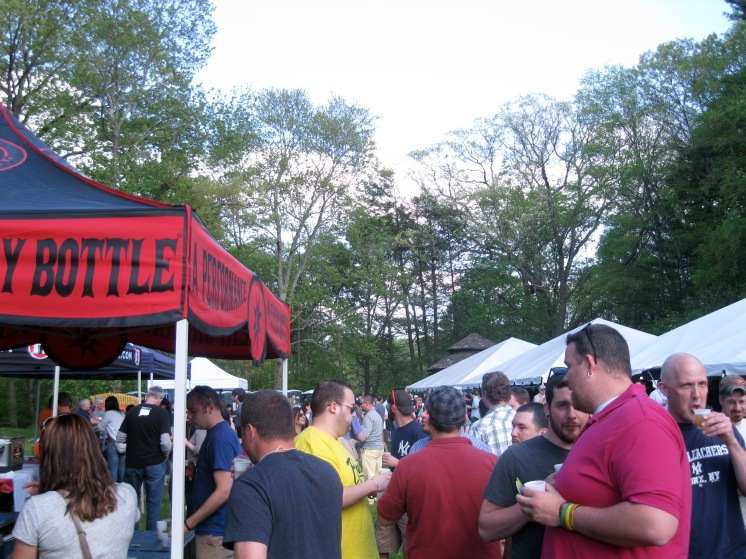 A beautiful day brought out a crowd to Jesse Camille's 20th Annual Connecticut Craft Brew Festival today.
