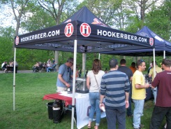Thomas Hooker Brewing represents with its own tent, which features two of its Belgian-style offerings.