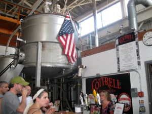 Tasters sip it up at Cottrell Brewing Company.