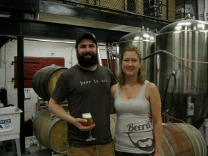 Aaren Simoncini and Precious Putnam of Beer'd Brewing.