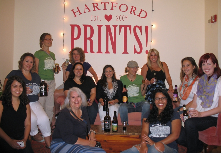 The Girls Pint Out Connecticut women at Hartford Prints! in Hartford. Photo by Will Siss