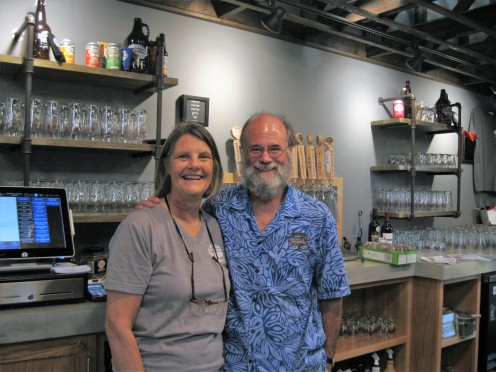 Michelle and P. Scott Vallely of Charter Oak Brewing.