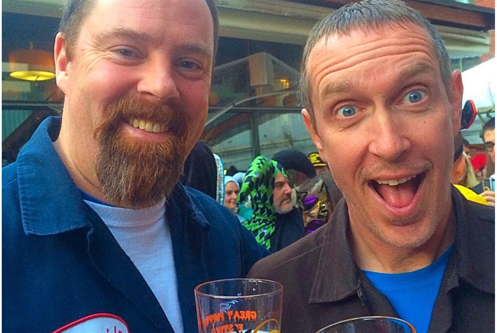 Bob Kelley (left) and Rob Vandenabeele Mass Brew Bros